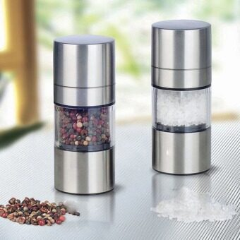 Harga Stainless Steel Manual Salt Pepper Mill Grinder Portable KitchenMill Muller Home Kitchen Tool Spice Sauce Grinder Pepper Mill