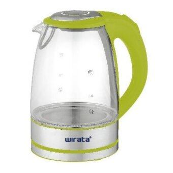 Harga WIRATA JK-253 1.7L GLASS KETTLE WITH LED LIGHT (GREEN)