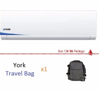York 1.5 HP Aircond - YMW3F15CAS-W /YSL3F15AAS (R410A) with Travel Bag