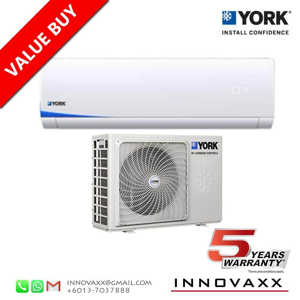 YORK 1.5HP YWM3F15CAS-W / YSL3F15AAS Aircond Air Conditioner (R410A) image on snachetto.com