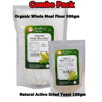 1 X Organic Whole Meal Flour (High Protein) 500gm + 1 X NaturalActive Dried yeast 100gm (Combo Pack)