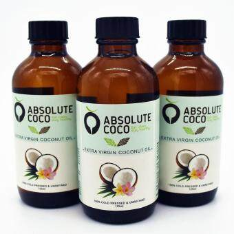 Harga Absolute Coco Extra Virgin Coconut Oil 3 x 125ml