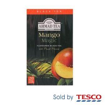 Ahmad Tea London Mango Magic Flavoured Black Tea with Fruit Pieces Foil Tea Bags 20pcs 40g