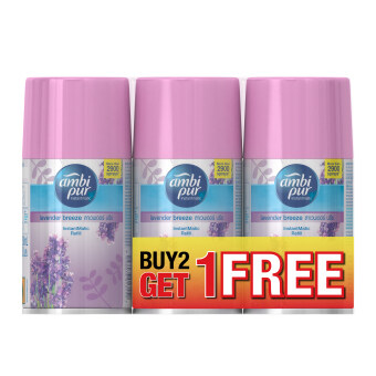 Ambi Pur InstantMatic Lavender Breeze Automatic Spray  Refill 250ml buy 2 get free 1