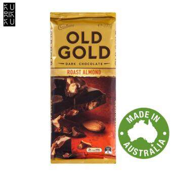Harga Australia Cadbury Old Gold Dark Chocolate Roast Almond 200G