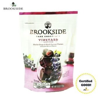 Harga Brookside Vineyard Inspired Merlot Grape & Black Currant Dark Chocolate 170g