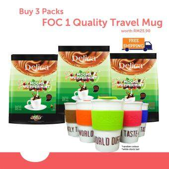 Delica 3 in 1 Ipoh White Coffee - Mocha Peppermint (15 x 36g) @ 3 packs