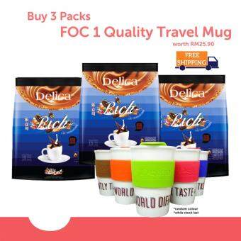 Delica 3 in 1 Ipoh White Coffee - Rich (15 x 36g) @ 3 packs