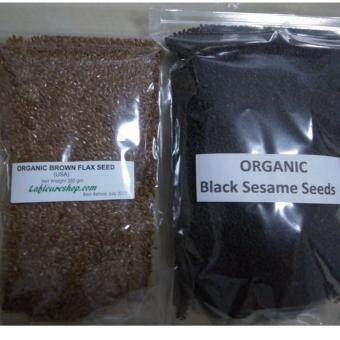 Harga Organic Brown Flax Seeds 250 grams + Organic Black Sesame Seeds 500 grams