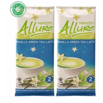 Harga Eprecielo Allure Green Tea Latte Vanilla - 2 Double sachet packs