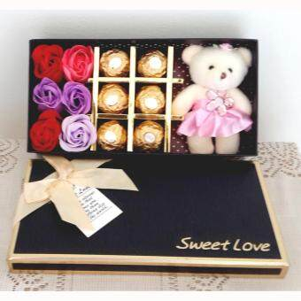 Harga 6pc Ferrero Rocher Chocolate and Soap Roses in Box