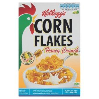 Harga Kellogg's Corn Flakes Honey Crunch with Nuts Breakfast Cereal 400g