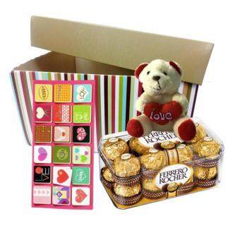Harga Mother's Day Ferrero Rocher Chocolate 16pc & Bear with Gift Box