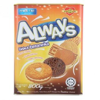 Harga Hwa Tai Always Assorted Biscuits 800g
