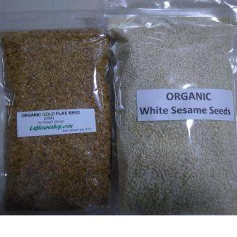 Harga Organic Brown Flax Seeds 250 grams + Organic White Sesame Seeds 500 grams