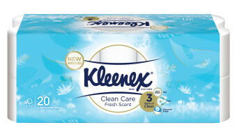 Harga Kleenex Clean Care Scented Fresh (3ply) 190s x 20 rolls ToiletTissue