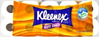 Harga Kleenex Soft Touch 2 Ply Toilet Tissue 10 Rolls 2200 Sheets
