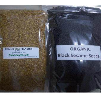 Harga Organic Gold Flax Seeds 250 grams + Organic Black Sesame Seeds 500 grams