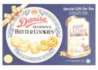 Harga Danisa Traditional Butter Cookies 454g Free Kopiko L.A. Coffee 5 x 24g