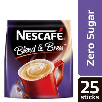 Harga NESCAFE Blend and Brew Zero 25 Sticks, 12g Each