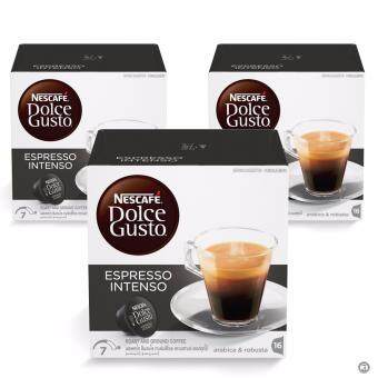Harga NESCAFE Dolce Gusto Espresso Intenso Coffee Bundle of 3 Boxes Exp:07/03/18