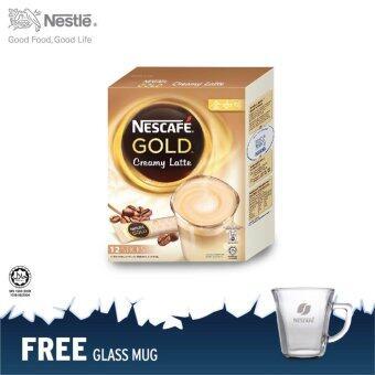 NESCAFE Gold Creamy Latte 12 Sticks @RM12.90 FOC glass mug
