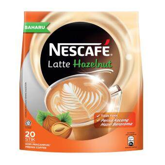 Harga NESCAFE Latte Hazelnut 20 sticks, 24g Each (SPECIAL OFFER)