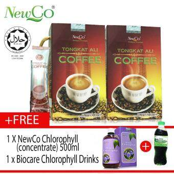 Harga Newco Tongkat Ali Coffee 2 X 10 sachets FREE NEWCO CHLOROPHYLL & CHLOROPHYLL DRINKS