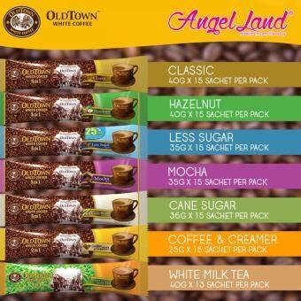 OldTown White Coffee 3 in 1 Instant Premix White Coffee x 4PacksLess Sugar + Free Coffee Mug - 3