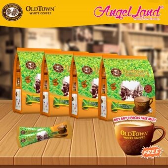 Harga OldTown White Coffee 3 in 1 Instant Premix White Coffee x 4PacksWhite Milk Tea + Free Coffee Mug