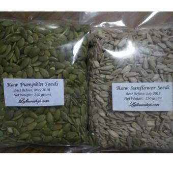 Organic Raw Pumpkin Seeds 250 grams + Raw Sunflower Seeds 250 grams