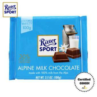 Harga Ritter Sport Alpine Milk Chocolate 100g