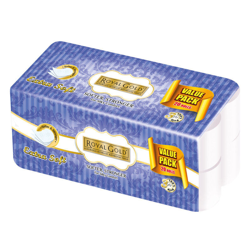 Buy Royal Gold Elegant Toilet Tissue 20 rollsx220 sheets (PulpPaper)FREE 1pkt of R/Gold Twin Tone Soft Pack 50s Malaysia