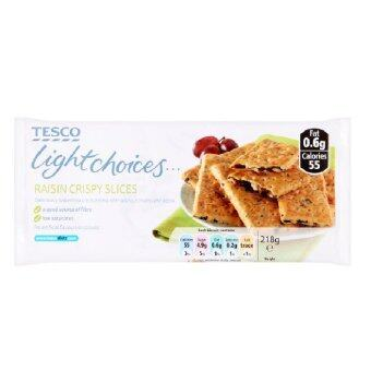Tesco Light Choices Raisin Crispy Slices 218g