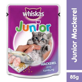 WHISKAS Pouch Junior Mackerel 85gm x 24