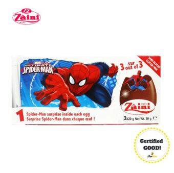 Harga Zaini Egg Spiderman Surprise Toy Chocolate 60g
