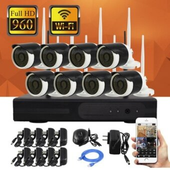 Harga 0% Installment WIFI CCTV DVR recoder set 8 camera 13mega pixel 960P FULL HD