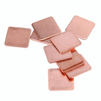 Harga 10 pcs 20mmx20mm 0.3mm Heatsink Copper Shim Thermal Pads