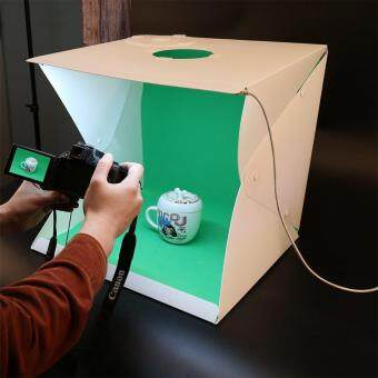 16 Inch Portable Mini Photo Studio DIY Mini Lightbox,with Built-inLED Lights,Button Fixed Mode (Bestowed Four Block BackgroundPlates) Provide USB Cable