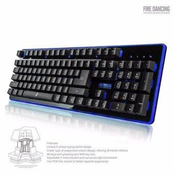 1STPLAYER Fire Dancing Mechanical Feel Gaming Keyboard GK3 Black