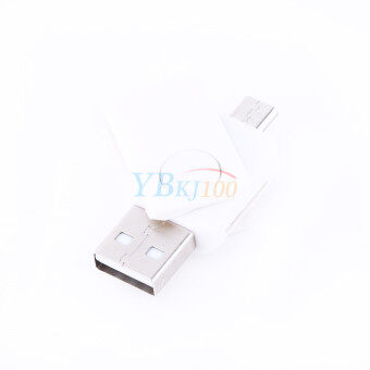 2-in-1 USB 2.0 OTG Adapter + Micro SD TF Card Reader for AndroidPhone ST2(White) - 2