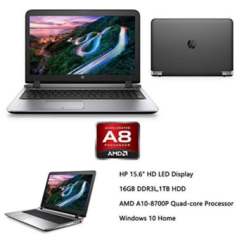 2016 HP Probook 15.6 Premium High Performance Laptop, AMD Quad Core A10-8700P up to 3.2GHz, 16GB RAM, 1TB HDD, AMD Radeon R6 Graphics, DVD+/-RW, HDMI, VGA, Bluetooth, Wifi, Webcam, Windows 10 Malaysia