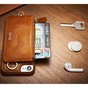 2017 New 4 in 1 100% Leather Zipper Wallet+Key Ring + ID Card Slot+ Leather TPU Phone Case For App.le i.phone 6 Plus / 6s Plus