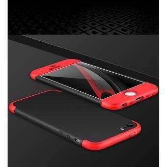 3 in 1 Combo Original GKK Tough Double Dip 360 Full Protection Casefor Apple iphone 6 Plus/6S Plus (Black Red)