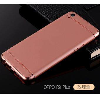 3 in 1 PC Protective Back Cover Case For Oppo A37 (Rose Gold)