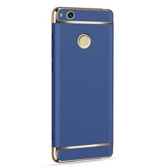 Harga 3 In 1 Ultra Thin and Slim Hard Case Coated Non Slip Matte Surfacewith Electroplate Frame for Huawei P8 Lite 2017 / P9 Lite 2017 /Nova Lite / Honor 8 Lite (Blue)