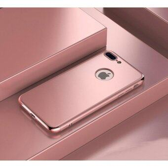 Harga 3 in 1 Ultra Thin Shockproof Armor full protective case for Appleiphone 7 Plus (Rose Gold)