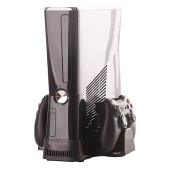 Harga 3 in 1 USB Cooling Fan + Console Controller Stand for Microsoft Xbox 360 Slim