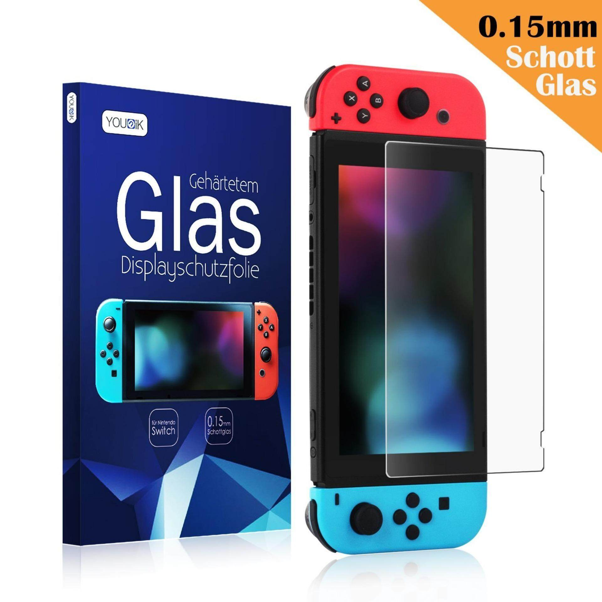 Keten Nintendo Switch Screen Protector 0.125mm/4H Clear Film Screen Protector for Nintendo Switch