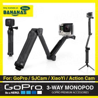 Harga 3-Way Grip Arm Tripod 3 Way Extension Arm Monopod for GoPro HERO 4 Session 3+ 3 XiaoYi SJCam Accessories